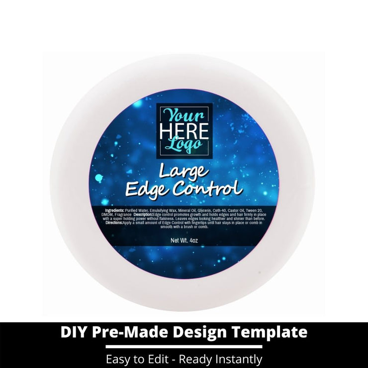 Large Edge Control Top Label Template 204
