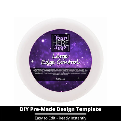 Large Edge Control Top Label Template 205