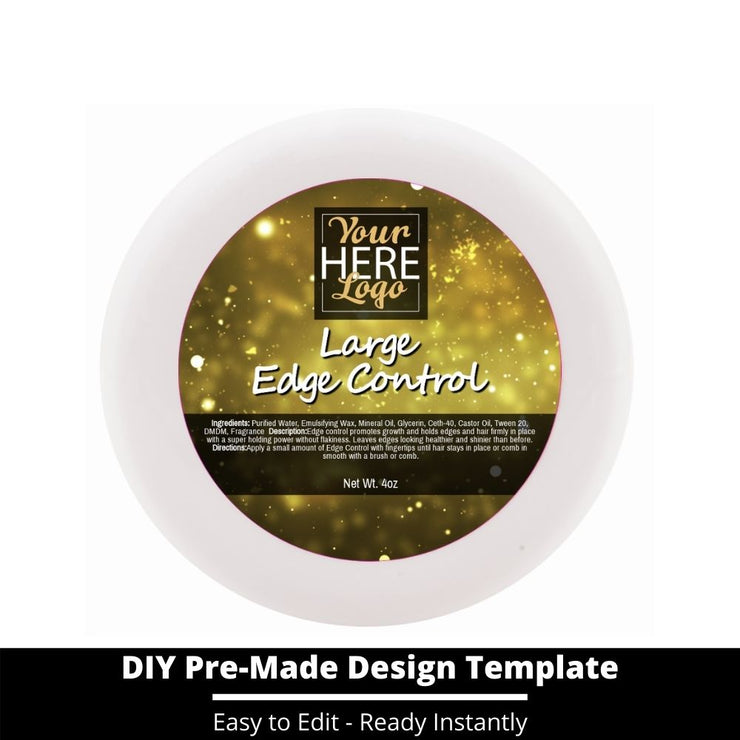 Large Edge Control Top Label Template 207