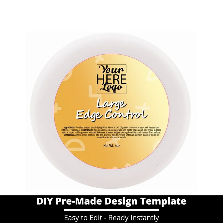 Large Edge Control Top Label Template 210