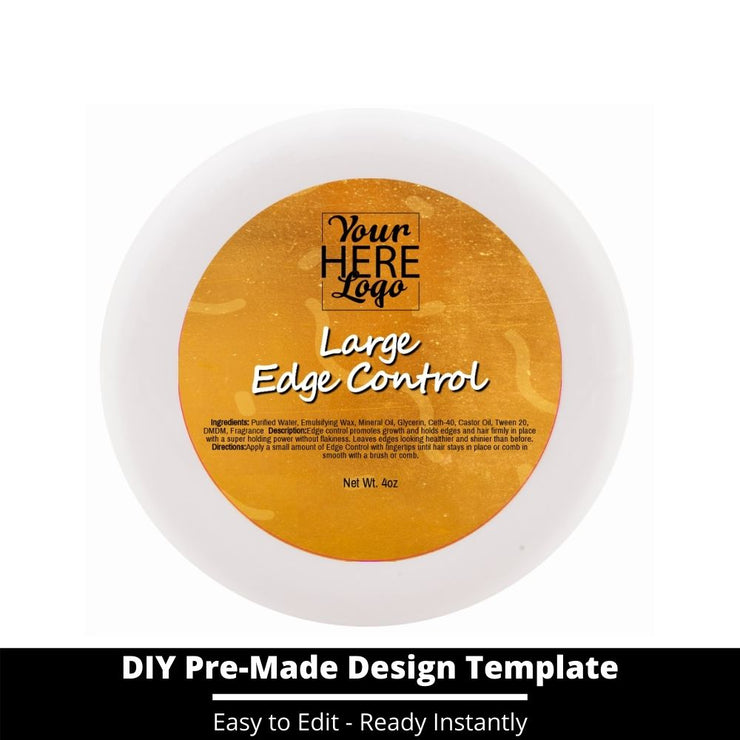 Large Edge Control Top Label Template 211