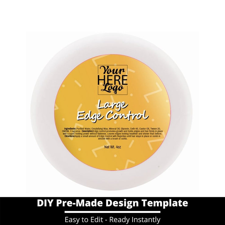 Large Edge Control Top Label Template 214