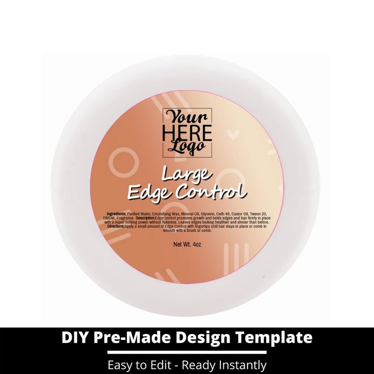 Large Edge Control Top Label Template 217