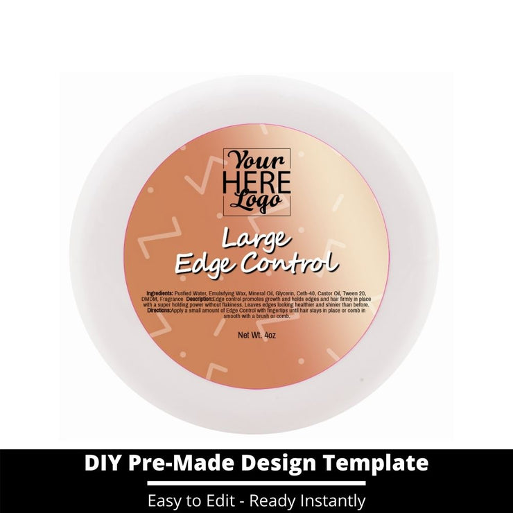 Large Edge Control Top Label Template 219