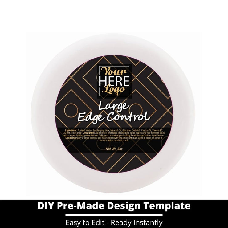 Large Edge Control Top Label Template 226