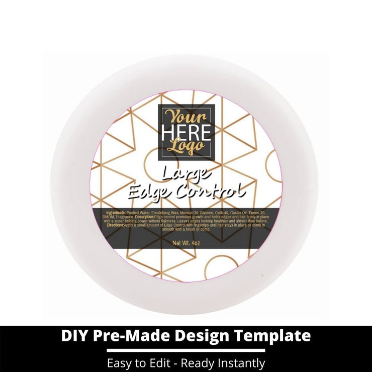 Large Edge Control Top Label Template 228