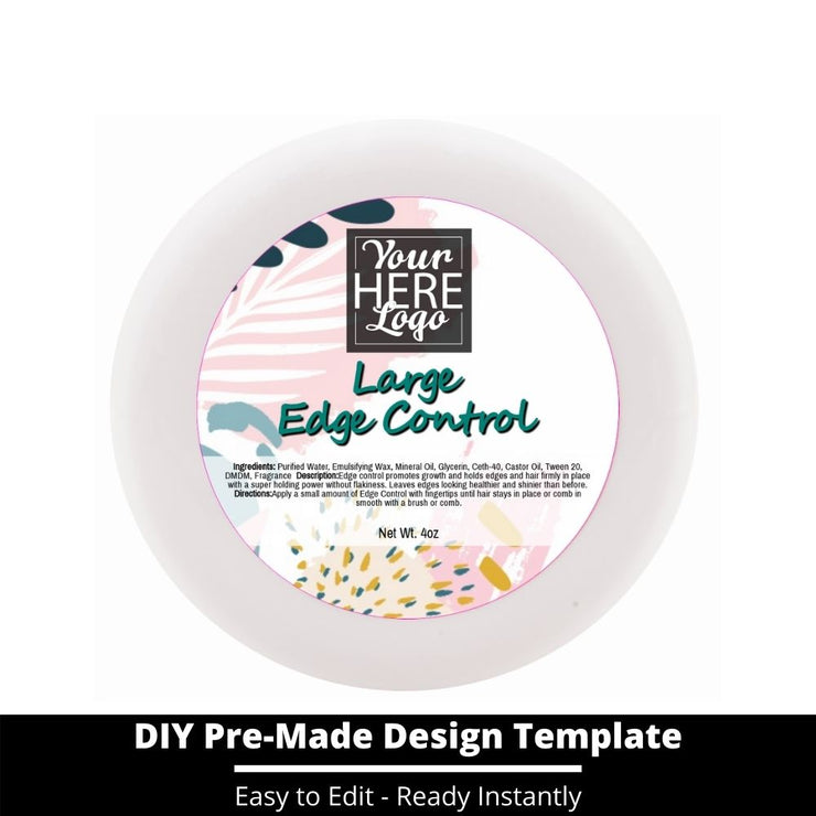 Large Edge Control Top Label Template 236