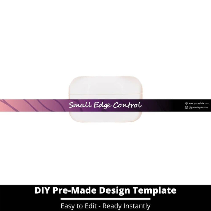 Small Edge Control Side Label Template 1