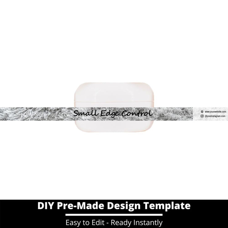Small Edge Control Side Label Template 114