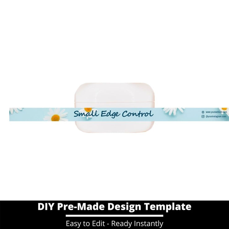 Small Edge Control Side Label Template 125
