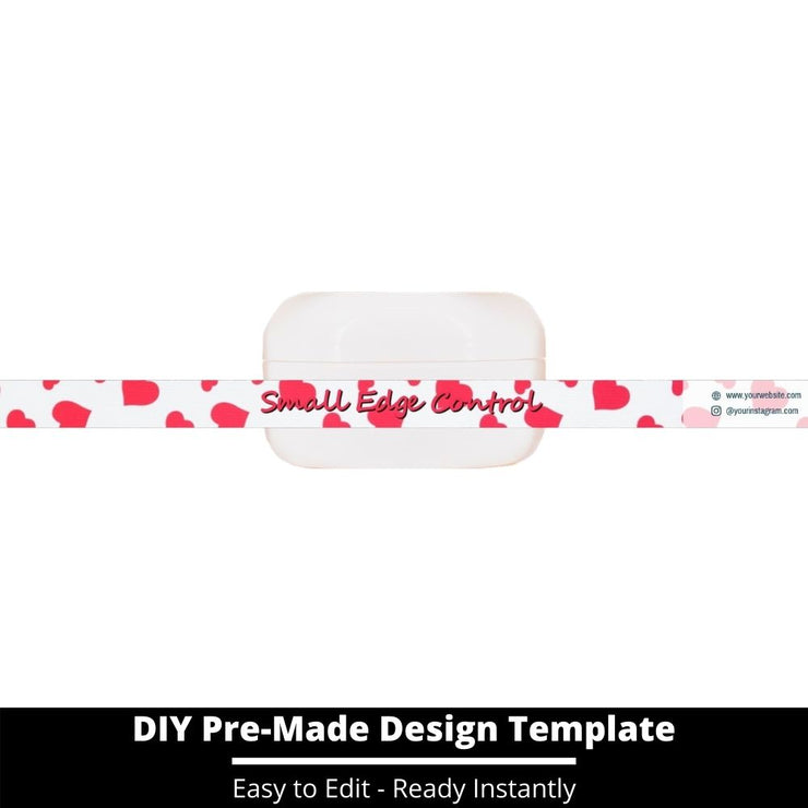 Small Edge Control Side Label Template 133