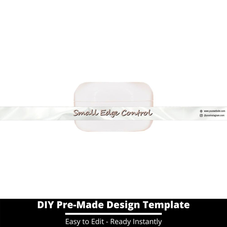 Small Edge Control Side Label Template 138