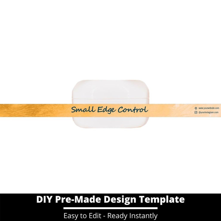 Small Edge Control Side Label Template 145