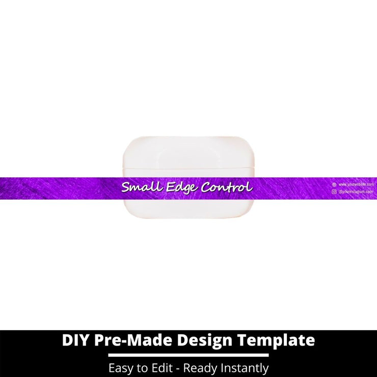 Small Edge Control Side Label Template 148