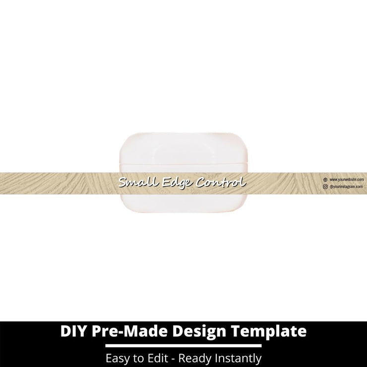Small Edge Control Side Label Template 154