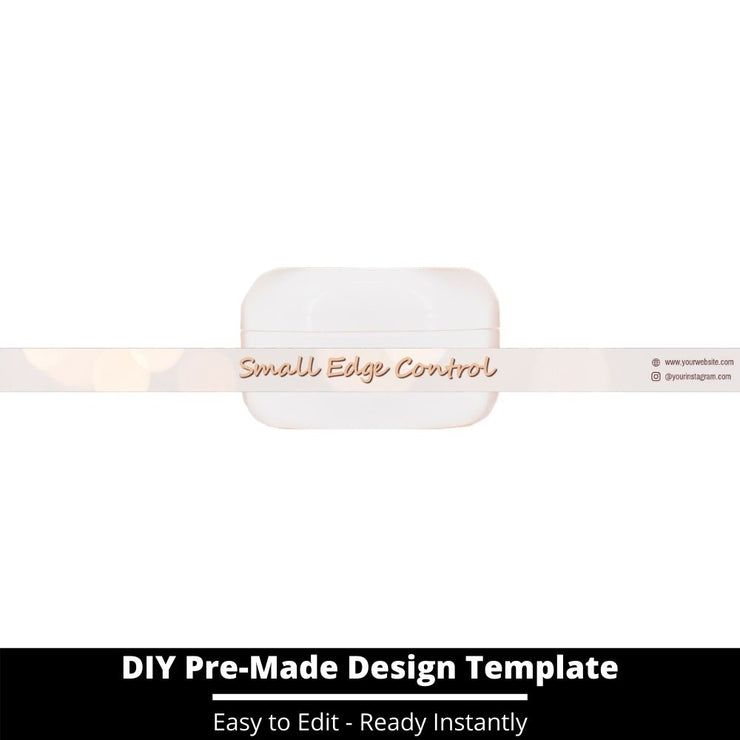 Small Edge Control Side Label Template 165
