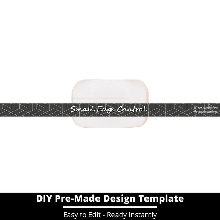 Small Edge Control Side Label Template 179