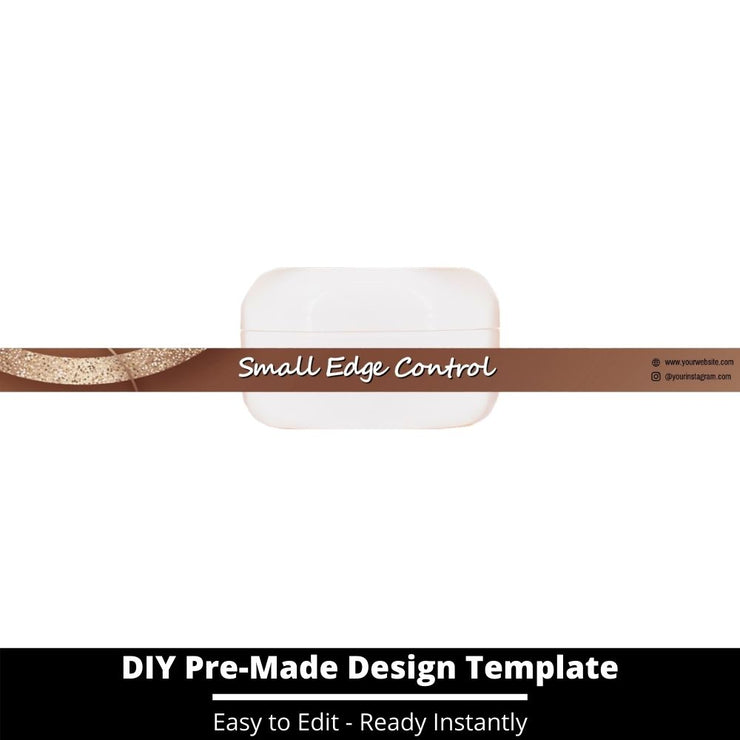 Small Edge Control Side Label Template 194