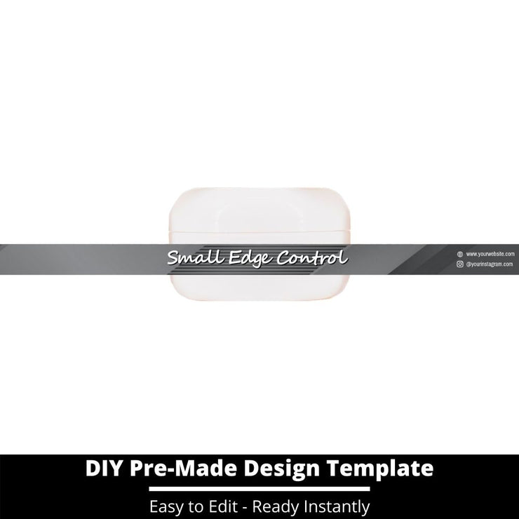 Small Edge Control Side Label Template 198