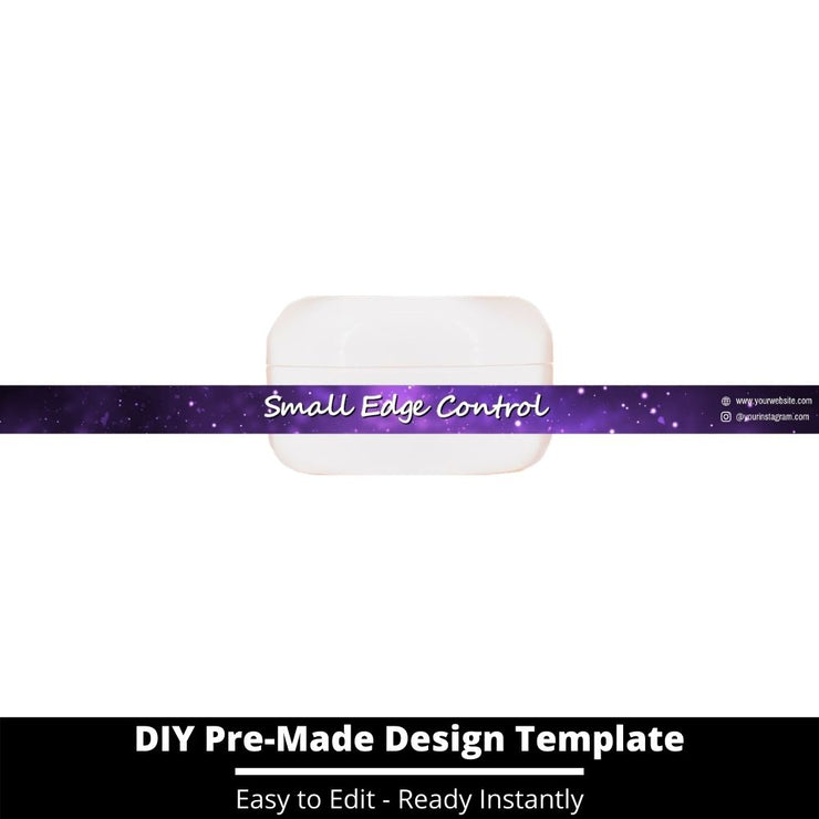 Small Edge Control Side Label Template 205