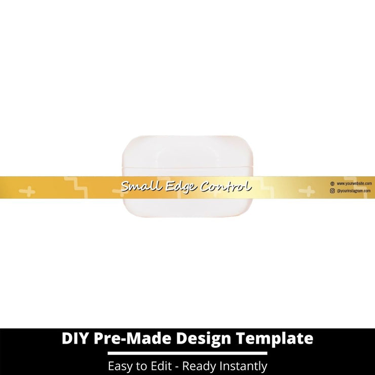 Small Edge Control Side Label Template 210