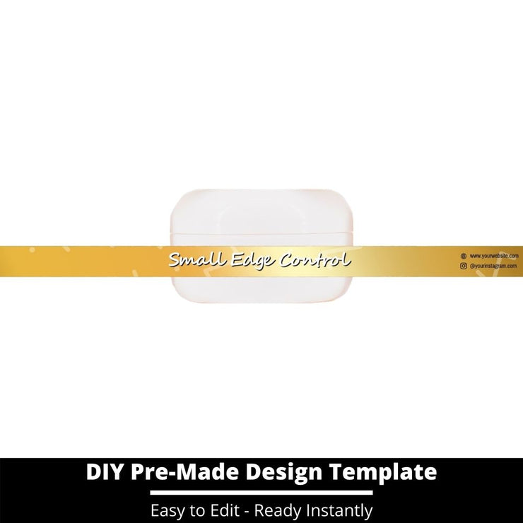 Small Edge Control Side Label Template 214