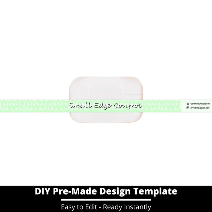 Small Edge Control Side Label Template 249