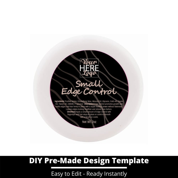 Small Edge Control Top Label Template 7