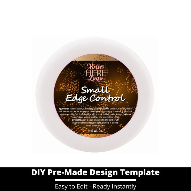 Small Edge Control Top Label Template 22