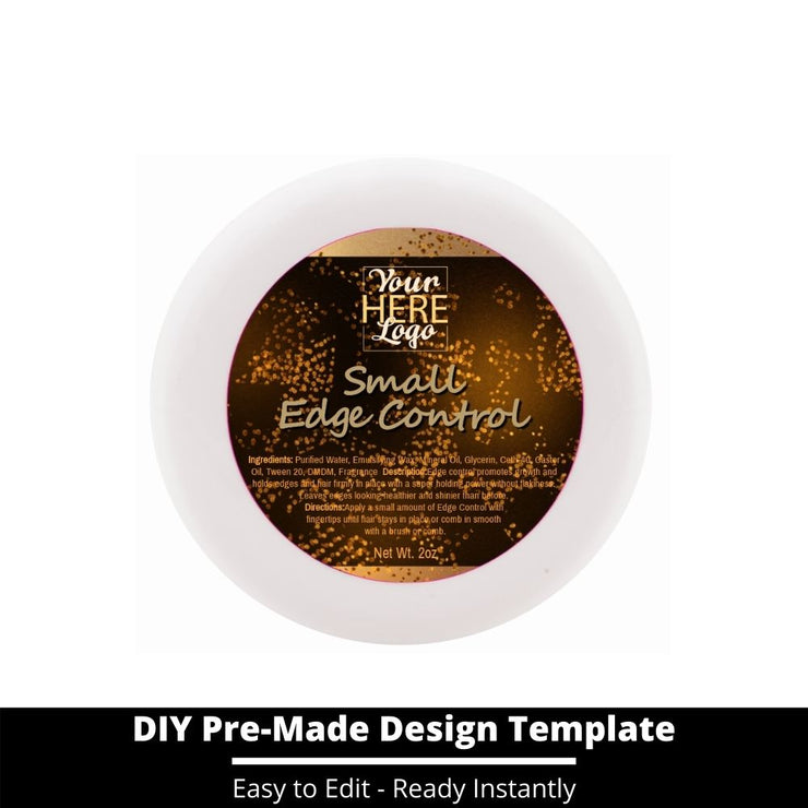 Small Edge Control Top Label Template 23