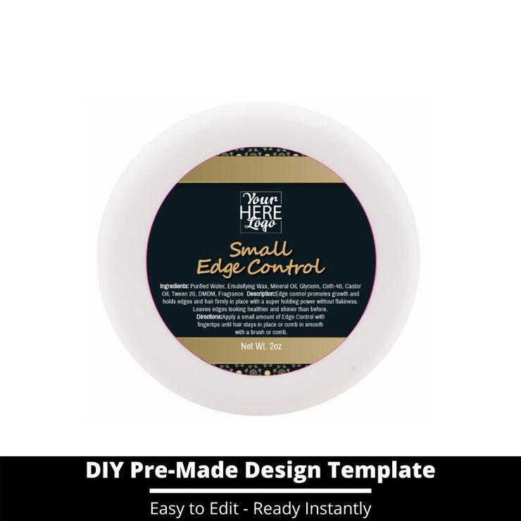 Small Edge Control Top Label Template 42