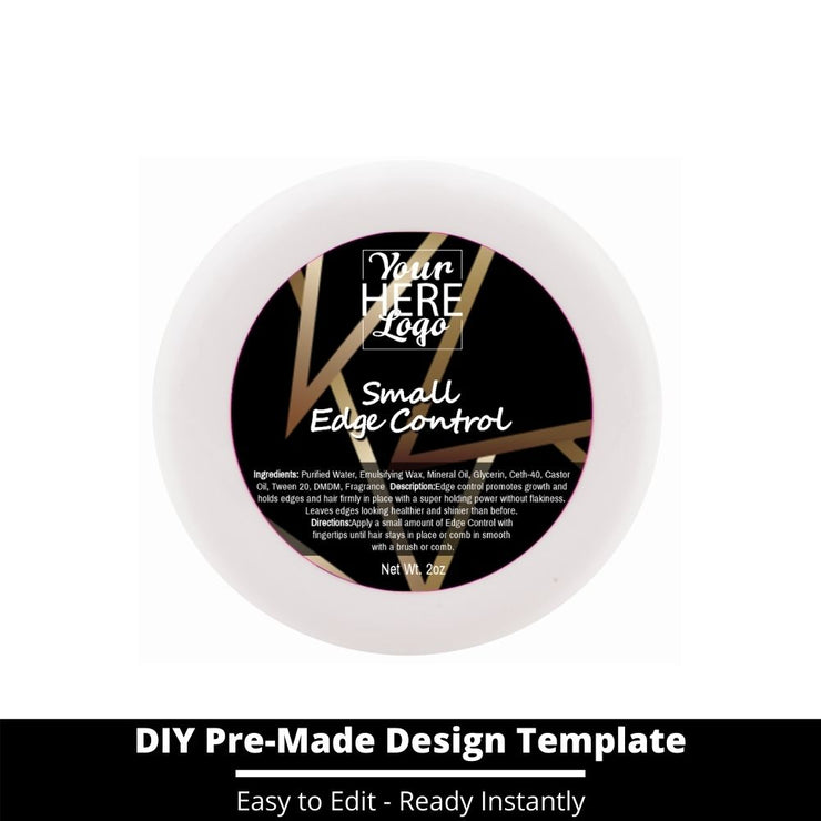 Small Edge Control Top Label Template 49