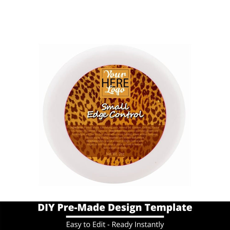 Small Edge Control Top Label Template 58