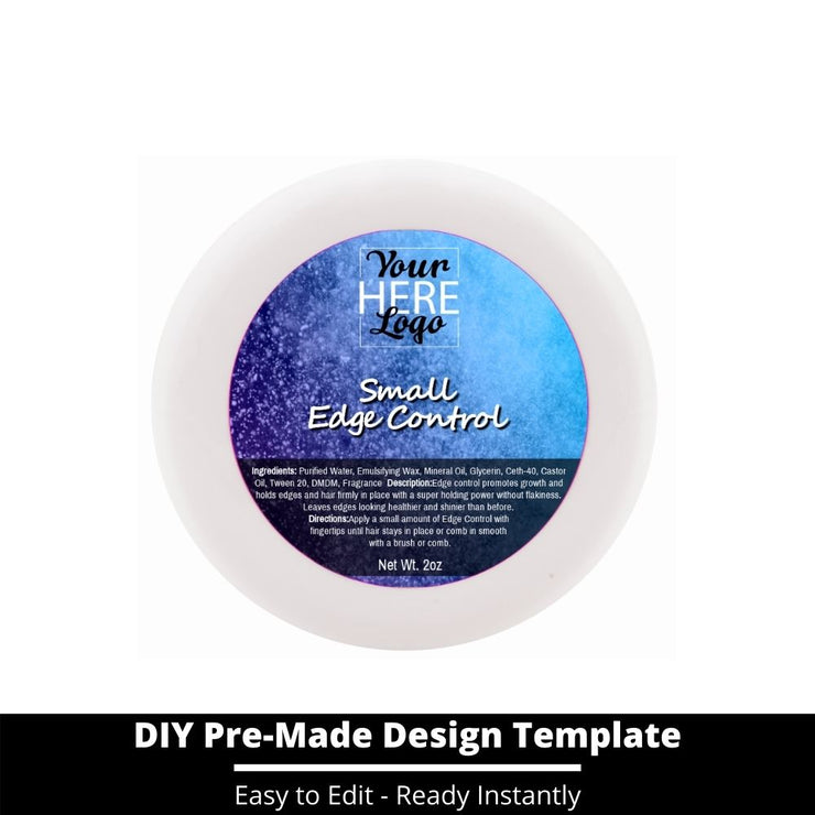 Small Edge Control Top Label Template 60