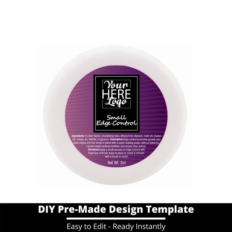 Small Edge Control Top Label Template 64