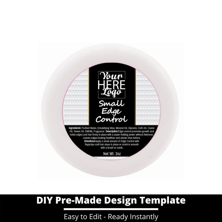 Small Edge Control Top Label Template 68