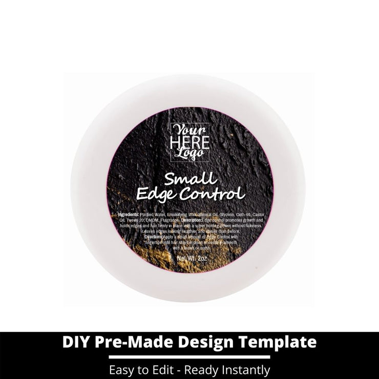 Small Edge Control Top Label Template 91