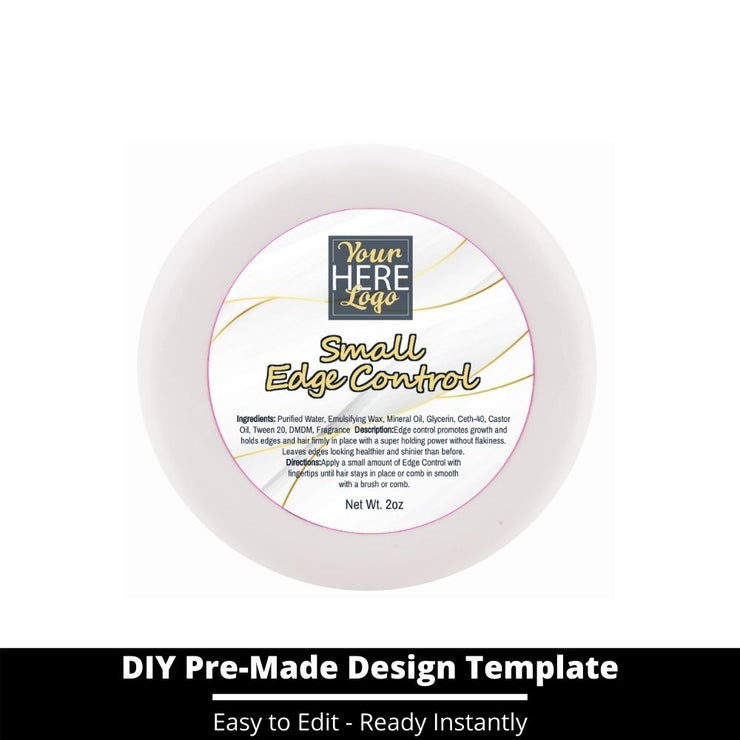 Small Edge Control Top Label Template 103