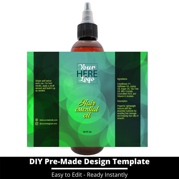 Hair Essential Oil Design Template 123