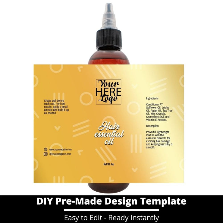 Hair Essential Oil Design Template 212