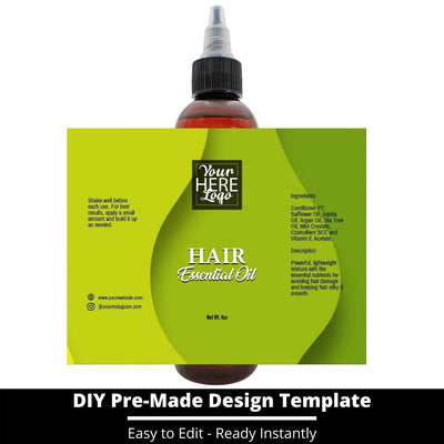 Hair Essential Oil Design Template 234