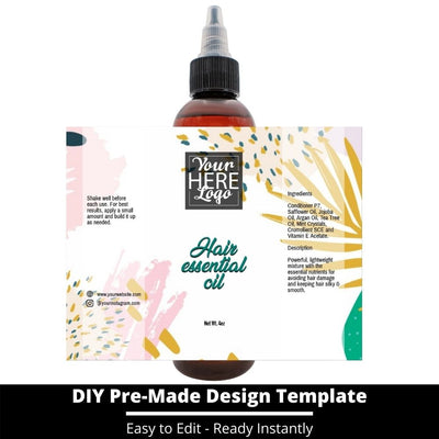 Hair Essential Oil Design Template 236