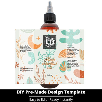 Hair Essential Oil Design Template 240