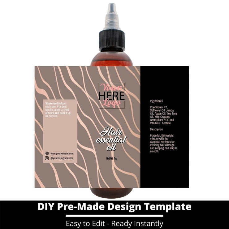 Hair Essential Oil Design Template 4