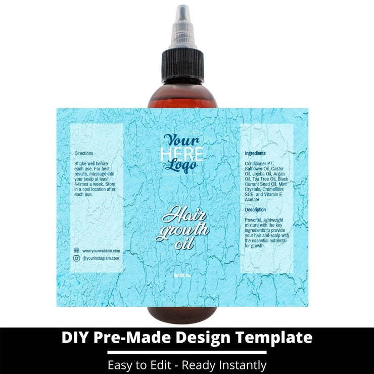 Hair Growth Oil Template 120