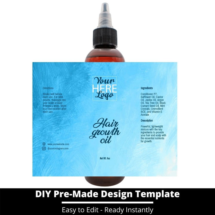 Hair Growth Oil Template 144