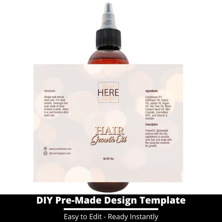 Hair Growth Oil Template 165