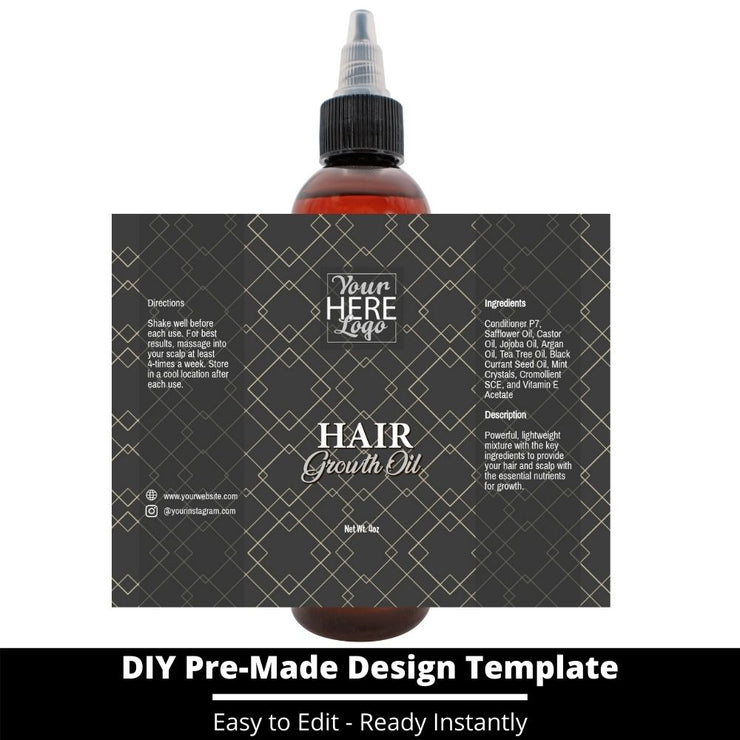 Hair Growth Oil Template 180