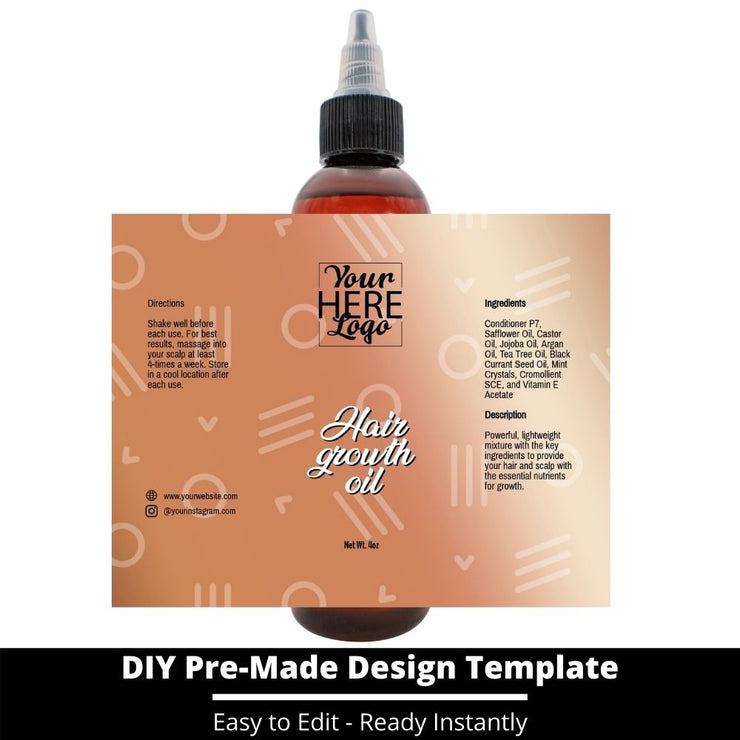 Hair Growth Oil Template 217