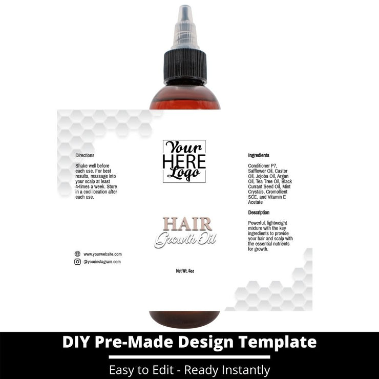 Hair Growth Oil Template 70